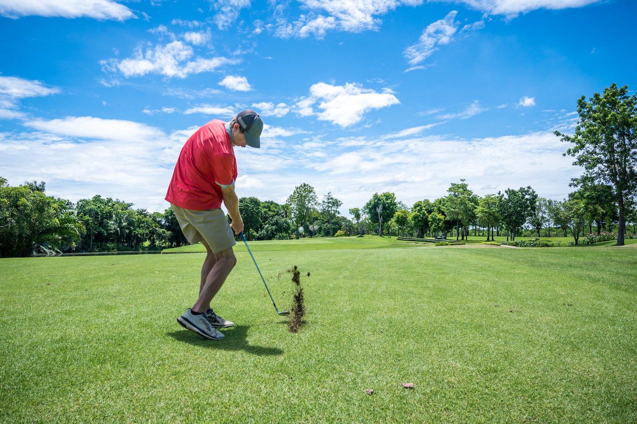Hitting Down on a Golf Ball: Methods + Drills to Practice