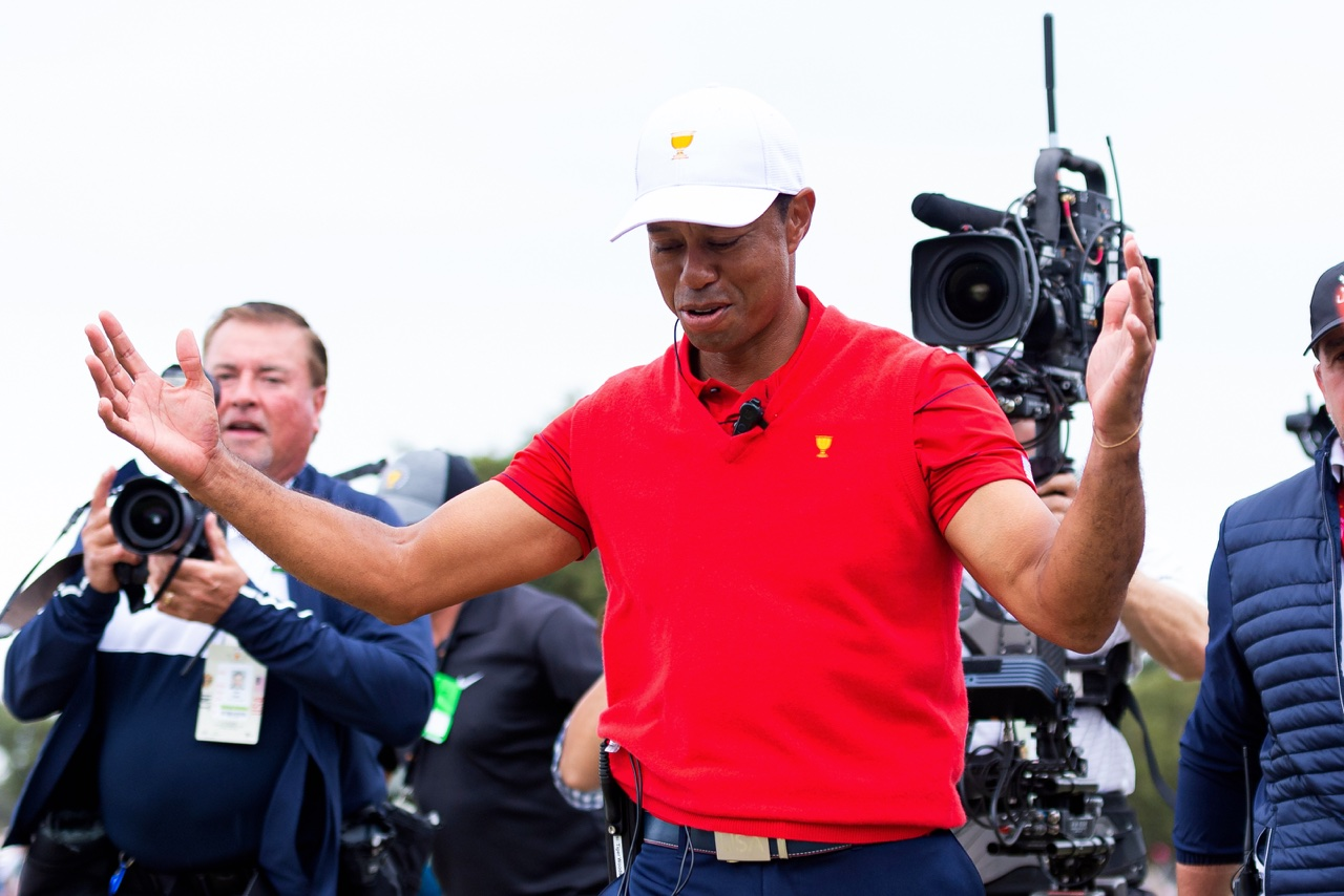 Tiger Woods was a playing captain in 2019